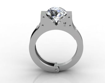 Handcuff Engagement Ring