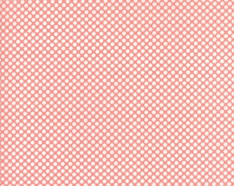 VINTAGE HOLIDAY Bonnie & Camille Vintage Christmas Dots in Pink 1 Yard Moda Fabric