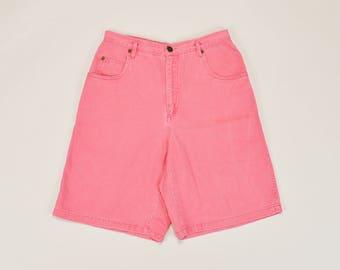 90s Mom Shorts, High Waisted Shorts, 90s Red Shorts, Bermuda Shorts, 90s Minimal Shorts, Cuffed Shorts, Womens 90s Shorts Size 8