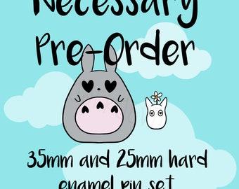 Necessary Pre-Order Totoro Fanart Set! 35mm Hard Enamel Pins x2 EXTENDED!