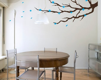 Blossom Branch with Leaves and Flowers - Vinyl Wall Decal