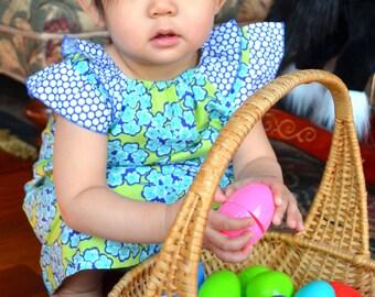 Sutton Floral Bouquet Dress 12-18, 18-24, 2T, 3T, 4T, 5, 6  infant dress, toddler dress, little girls dress Birthday, girls sundress, girls