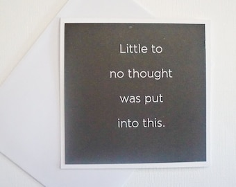 Funny Card - Little to no thought was put into this.