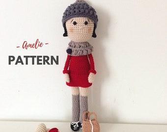 Amelie | Crochet Doll Pattern, Crochet Pattern, Amigurumi Doll Pattern, Amigurumi Doll, Amigurumi Pattern, PDF, Pattern