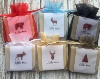Lumberjack Buffalo Check Baby Shower Soap Favors