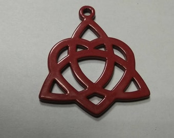 Triquetra and Heart Pendant