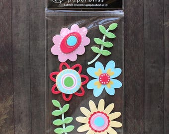 Paper Bliss Floral Fun Dimensional Stickers - Flower Stickers
