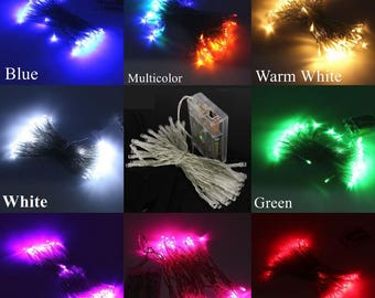 30 LED String Lights Battery Operated Fairy String Lights, Centerpieces, Party Lights, Outdoor Wedding, Rustic Wedding, Room decor