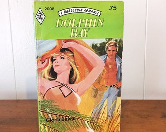Vintage Harlequin Book Romance Dolphin Bay Summer Love Green Decor