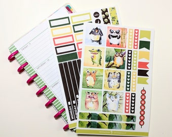 Amis animaux Collection - Kit Mini Planner heureux - Planner Stickers
