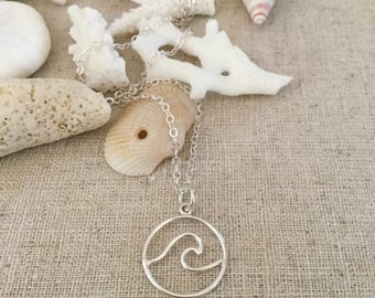 New! // Circle Wave Pendant Sterling Silver