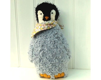 Funky Penguin Softie pdf pattern instant download