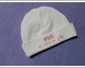 """""""Mother to daughter PSG"""" personalized baby Hat"""