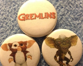 "Gremlins Pin Buttons Set 1"""