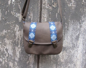 Morocco clasps satchels Blue shoulder bag
