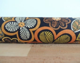 Door draft Stopper. Door or window snake. Draught excluder. House and home accessory.eco friendly. woodland flowers draft stopper
