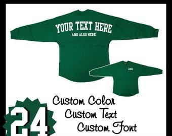 Pennant Custom Pom Pom Shirt / Personalized Pennant Billboard Jersey / Pennant Spirit Wear / Spirit / Gifts For Her