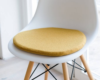 Chair cushion in mustard, suitable for Eames chair, Limited