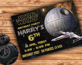 Star wars Invitation, star wars Party, star wars Birthday Invitation, Boy star wars Invitation, star wars Theme Printables