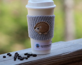 Cup cozy, cup sleeve, Coffee sleeve, Coffee cozy, Fairytale gift, coffee gift, gift mom gift, best friend gift, coworker gift, hedgehog gift