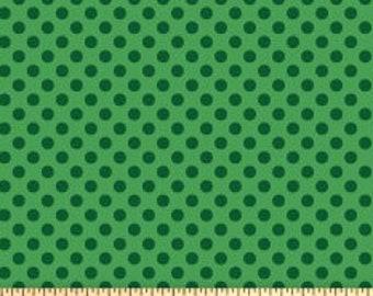 """Tone on Tone 1/4"""" Green Dot from Makower Fabrics-1811"""
