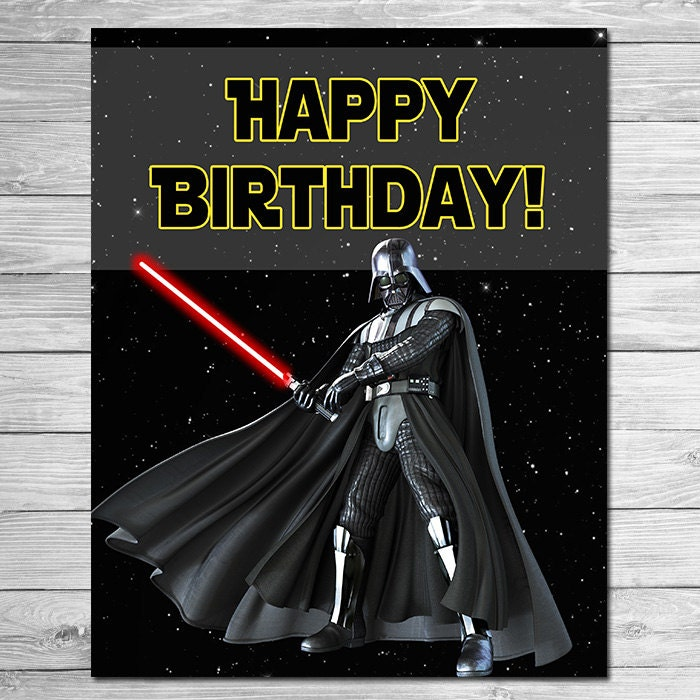 Conosciuto Star Wars Happy Birthday Sign Darth Vadar Star Wars Birthday GM96