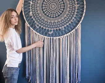 Large dream catcher, large dreamcatcher, dream catcher wall hanging, blue ombre, large wall art, wall decor, nursery decor, baby shower gift