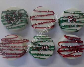 24 Chocolate covered St Patrick's, Valentines or holiday Oreos