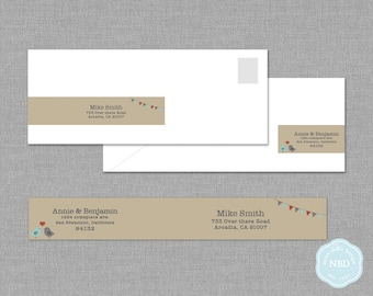 Love Birds Wraparound Mailing Label [Printable | DIY | Digital File]