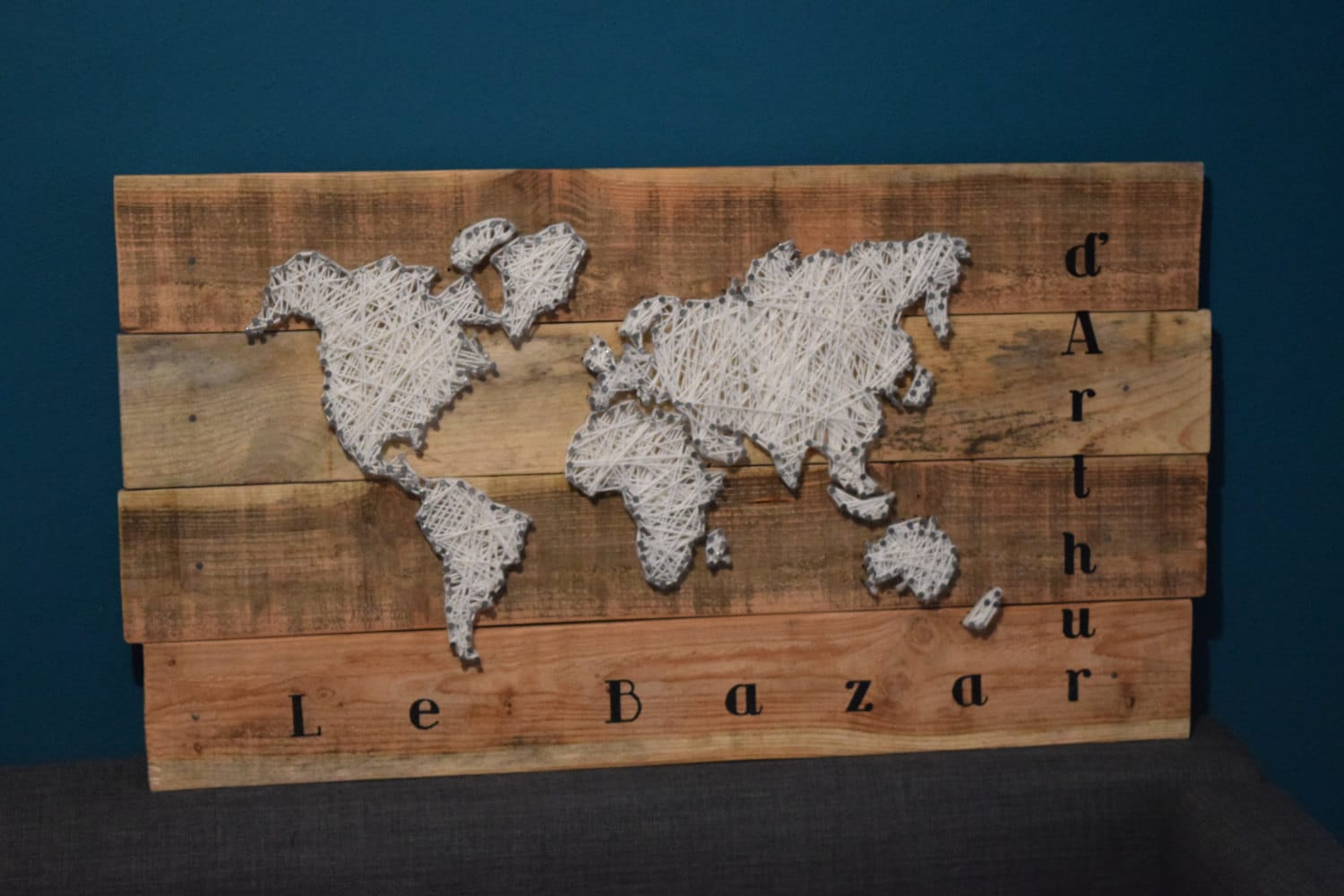 zoom World map String Art 80 x
