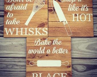 Kitchen decor, kitchen signs, funny kitchen signs, kitchen puns, farmhouse kitchen, farmhouse decor, rustic kitchen, free shipping