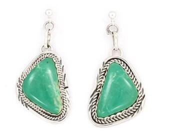Turquoise Bear Fetish Earrings