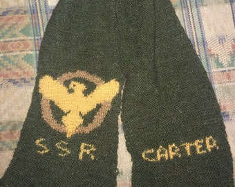 Agent Peggy Carter SSR hand knitted scarf