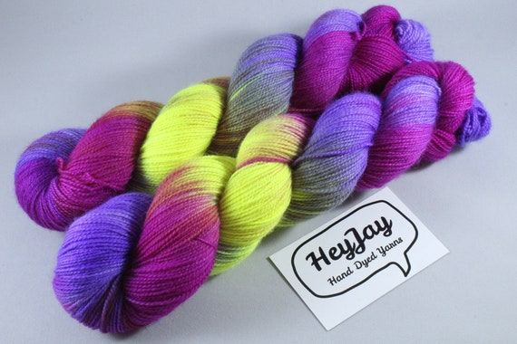 Hand Dyed Ultimate Sock Yarn, BFL High Twist - Firefly