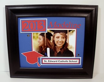 Personalized Graduation 2016 8x10 Frame for 4x6 Photo - Personalized Any Colors Any Message - 8x10 Deluxe FRAME INCLUDED
