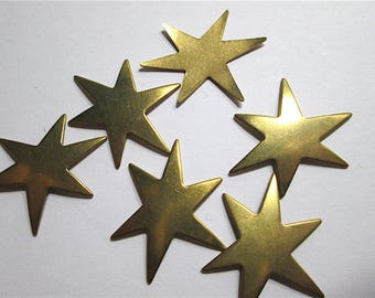 4 Brass Star Blanks