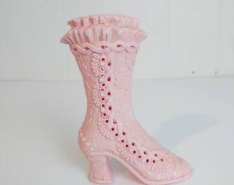 Vintage Avon Pink Fragrance Victorian Boot Pomander