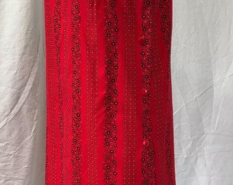 Vintage Rhapsody 60s Red Bandana Shift Dress M