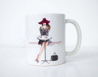 Lady Latte (Fashion Illustration Mug)