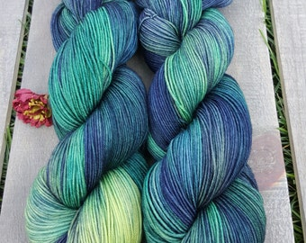 Ewetopia Sock 4 ply, Hand dyed yarn, Superwash merino wool,  438 yds/ 100g: Cassiopeia.