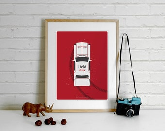 Lana Del Rey Art, Lana Del Rey Print - A4 Illustration Art Print Poster, Minimalist Print, Music, Mustang, Lana Del Rey Poster,minimal print