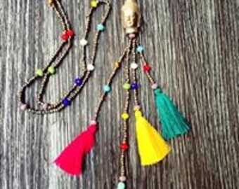 Necklaces Hindus Buddha and 7 Chakras.