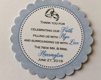 Wedding Favor Tags ( Set of 12)  - Wedding Favors - Personalized Wedding Favor Tag - Tags for wedding favors - Wedding Favor Tag
