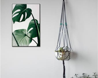 Macrame Plant hanger-MANY COLORS-27'' (68 cm) long-Modern Minimalist plant holder-suitable as a Hanging basket for baby room decoration