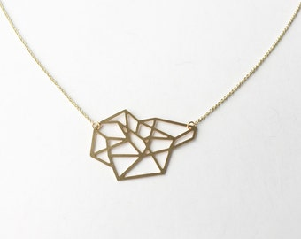 Faceted Geometric Shape Necklace | Medium | ATL-N-110