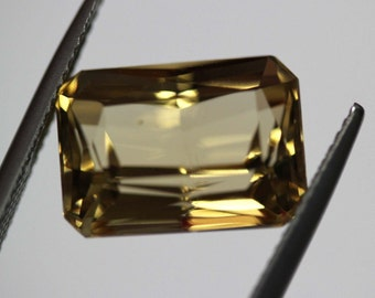 Loose natural untreated German cut Vivid Yellow Golden Beryl 8.53ct