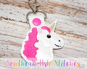 Unicorn SnapTab Embroidery Digital Download