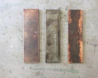 Linear 3-Piece Panels // Metal Art