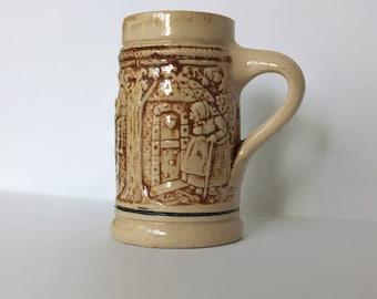 Miniature German Beer Stein Mug, Traditional Hansel and Gretel Scene, Beer Mug, Miniature
