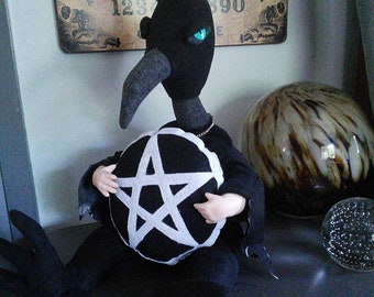 Shaman the Raven Child OOAK Art Doll Familiar